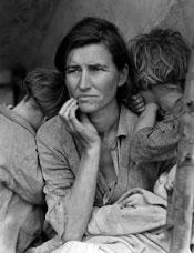 Foto de Dorothea Lange, fotógrafa de la Gran Depresión