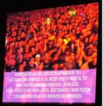 Ramoncín, en Viña Rock 2006. Público contra el canon.